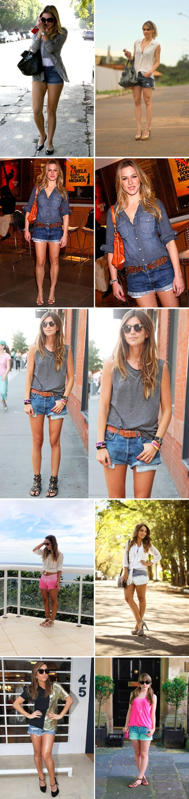 looks shorts jeans blog pirueiras